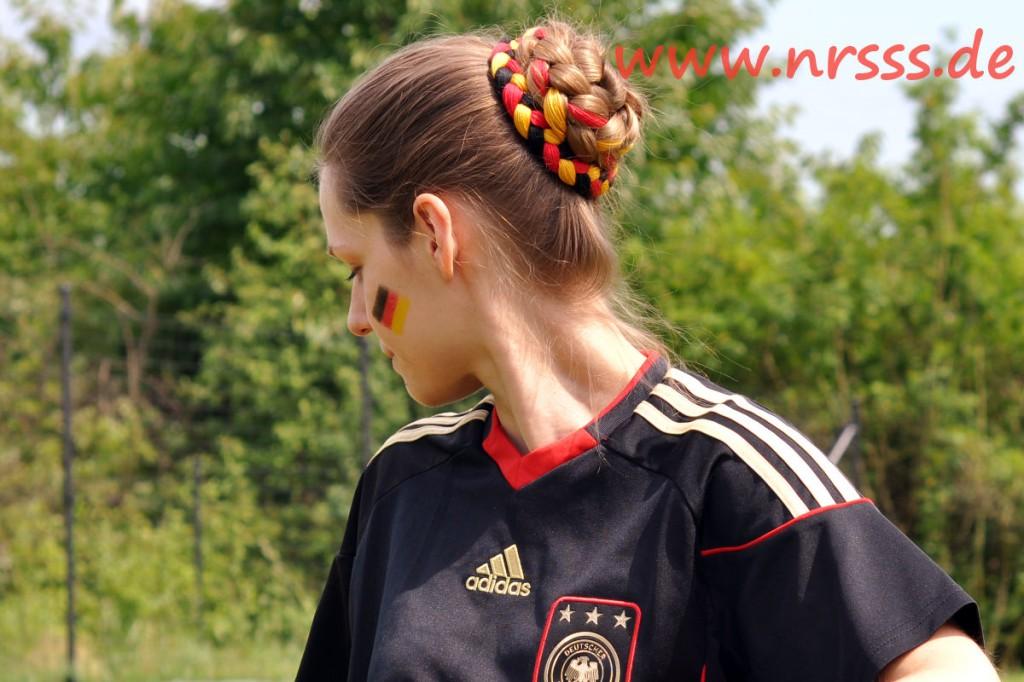 Parandi Dutt in Deutschlandfarben