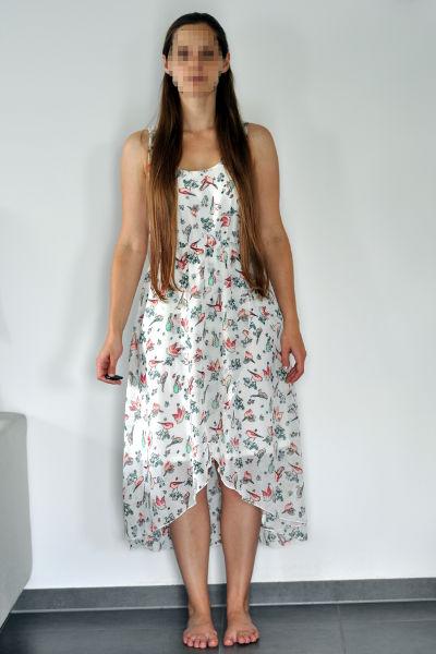 VoKuHiLa-Kleid mit Vogeldruck