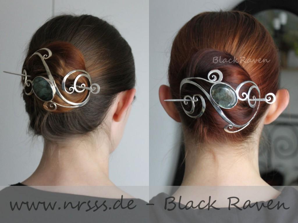 Black Raven lässt - genau wie ich - ihre Naturhaarfarbe rauswachsen. Überhaupt sind unsere Haare sich vermutlich sehr ähnlich...