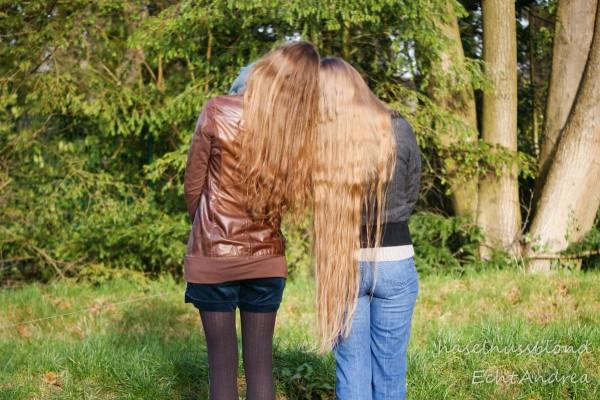 Freunde treffen ist doch großartig - und dann auch noch mit so schönen Haaren! <3