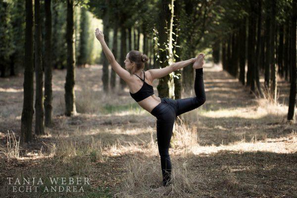 Natarajasana - der Tänzer. Auf Instagram und Co. ein sehr beliebtes Motiv...